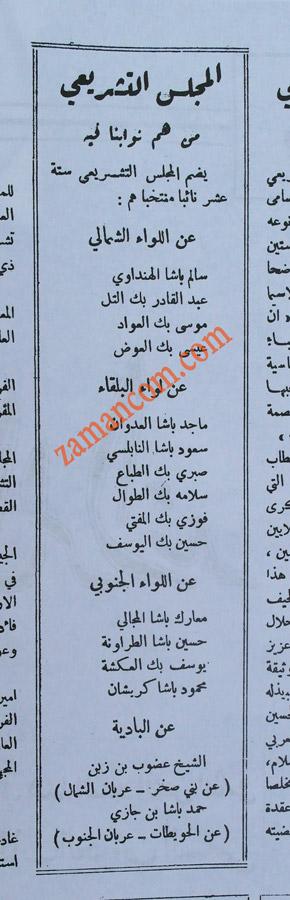 أعضاء المجلس التشريعي المنتخبين الذين اعلنوا الاستقلال