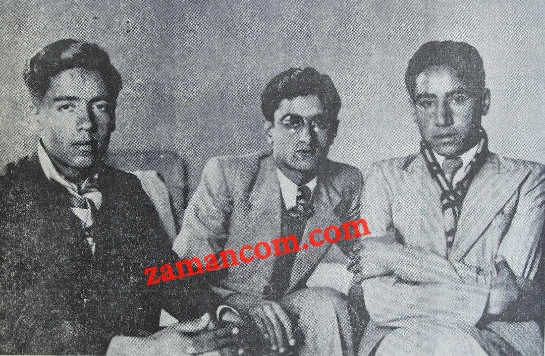من اليمين: حمد الفرحان وخليل السالم ووصفي التل